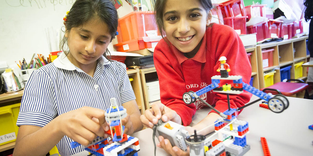 Lego classes and drumming Smita has set up a lego engineering club for schools kids parties etc to help her disabled son get into work 36 Cecil park, pinner, ha5 5ha  PIC: Children creating machines using Lego